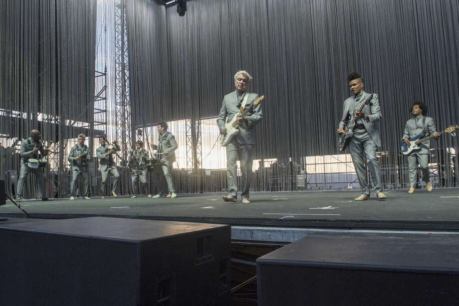 GEORGE, WA - MAY 25:  David Byrne (C) performs live on stage at Gorge Amphitheatre on May 25, 2018 in George, Washington.  (Photo by Jim Bennett/Getty Images) Photo: Jim Bennett/Getty Images