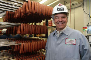 Michael Kiolbassa of Kiolbassa Smoked Meats stands in the packaging area of the sausage making company Thursday March 22, 2018. Located at 1325 S. Brazos street on San Antonio's West Side, the company has been making meat products since 1949 and distributes in 48 states now.
