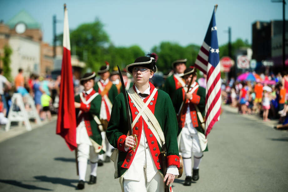 The annual Memorial Day Parade moves along Main Street on Monday, May 28, 2019 in downtown Midland. (Katy Kildee/kkildee@mdn.net) Photo: (Katy Kildee/kkildee@mdn.net)