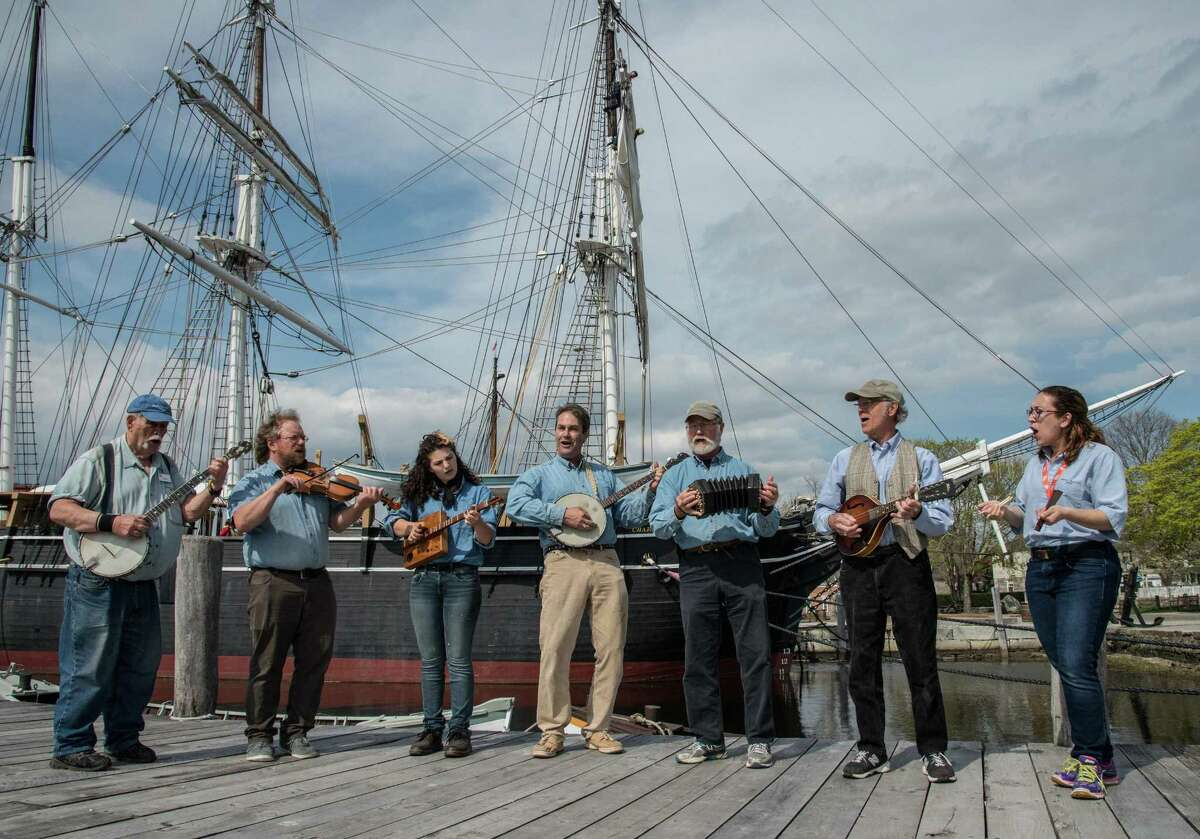 The Golden Age of Sail will be celebrated in song when the Mystic Seaport Museum hosts the 39th international Sea Music Festival June 7-10. Above is the Mystic Seaport Museum Chantey Staff, which will perform.