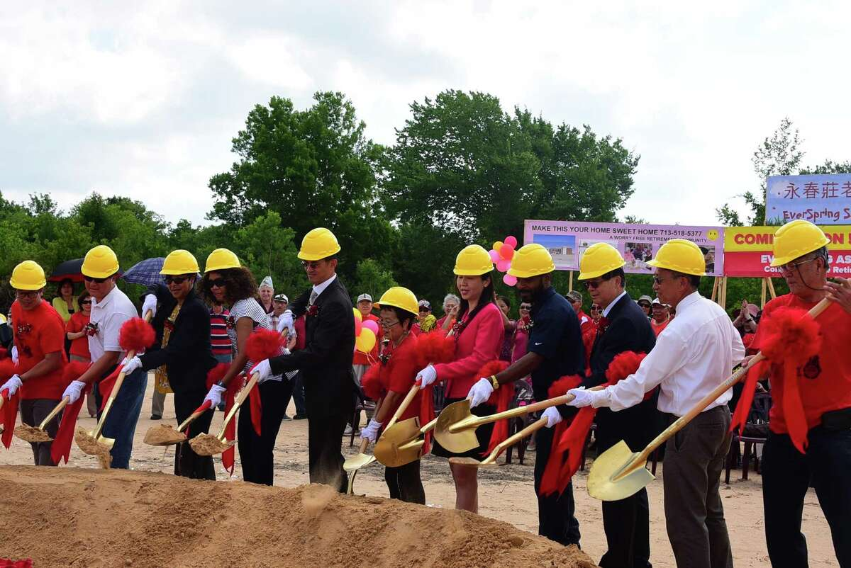 Community members and officials from the future Everspring Assisted Living broke ground May 18 on the property at Bellaire Boulevard and Texas State Highway 6. The retirement community focusing on Asian senior adults will be the first of its kind in Texas.