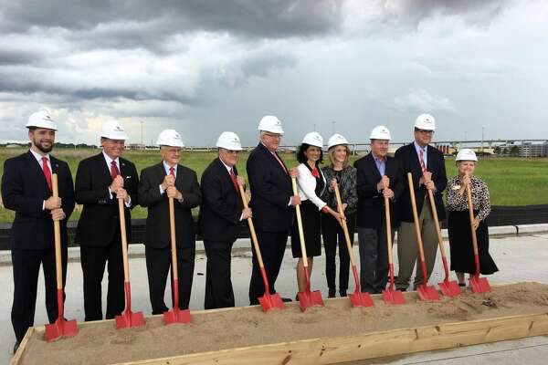 Dark clouds threatened stormy weather, but didn't stop the May 23, 2018, groundbreaking for an 80,000-square-foot academic building for the University of Houston at Katy campus. The UH College of Nursing in Katy is scheduled to open for students in the Fall of 2019. Up to 30 students will study there at the start for the traditional BSN degree, officials said.