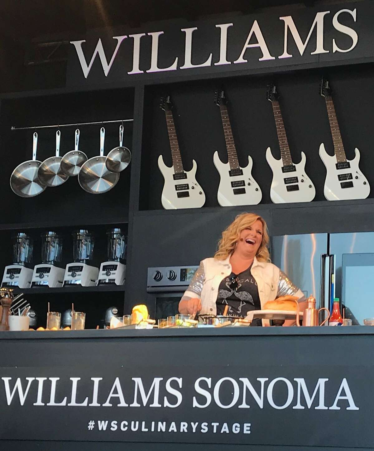Trisha Yearwood did a cooking demonstration at BottleRock Napa Valley's Williams Sonoma Culinary Stage on Sunday, May 27.