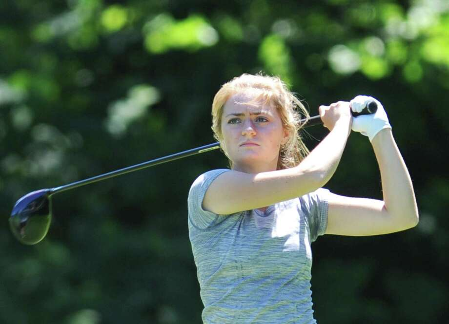 Two-time Connecticut Amateur champion Catherine McEvoy is competing in the Connecticut Women's Open Tuesday-Wednesday at Innis Arden Golf Club, Old Greenwich. Photo: Tyler Sizemore / Hearst Connecticut Media / Greenwich Time