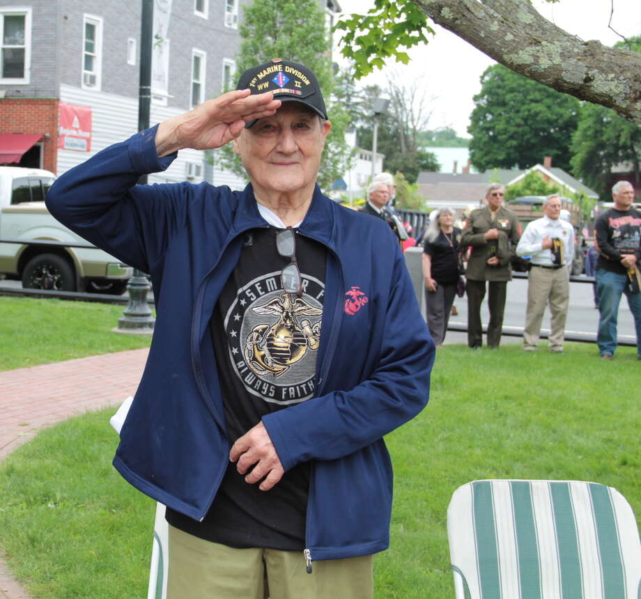 Winsted honored veterans with its annual Memorial Day Parade. Due to the pet parade being cancelled earlier this month because of bad weather, organizers decided to combine the pet parade with this year's Memorial Day parade. Photo: Photos By Anita Garnett