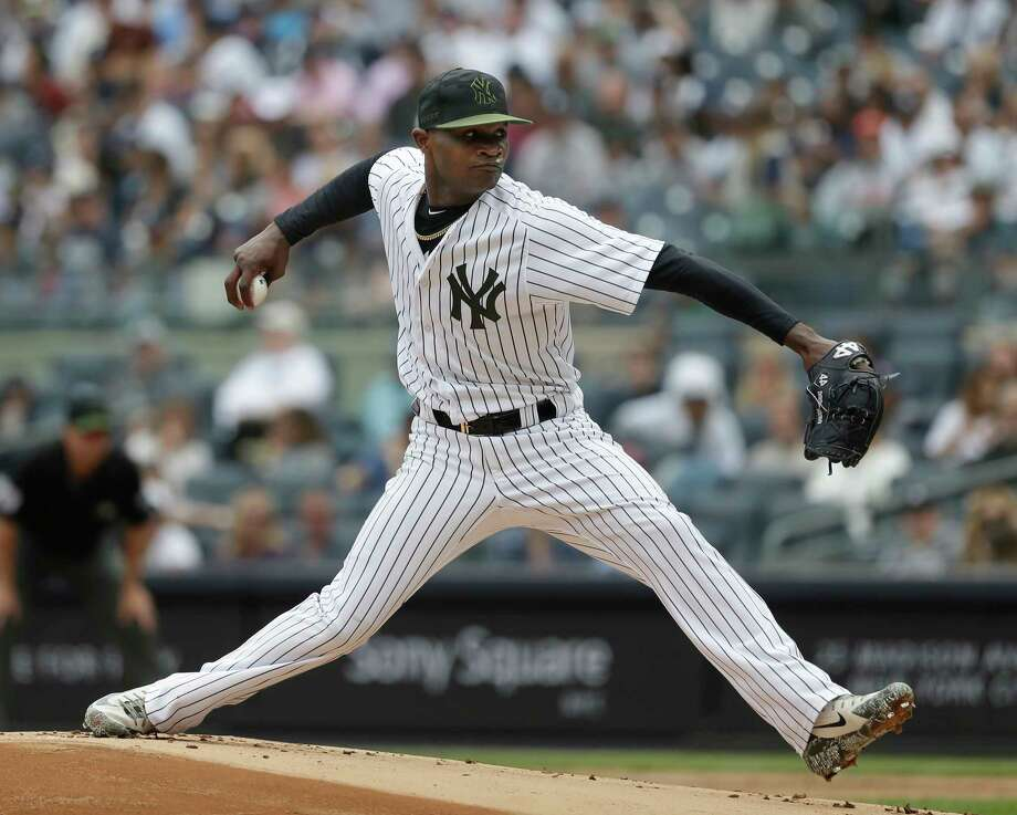 PHOTOS: A look at the Yankees starting pitching rotation New York Yankees pitcher Domingo German throws during the first inning of the game against the Houston Astros at Yankee Stadium Monday, May 28, 2018 in New York. (AP Photo/Seth Wenig) Photo: Seth Wenig, Associated Press / AP
