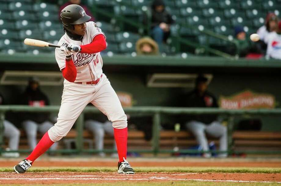 Carlos Rincon and the Great Lakes Loons are back at Dow Diamond for six straight games starting tonight. Rincon had three hits and five RBIs to lead the Loons to their third straight win on Monday. (File photo by Katy Kildee/kkildee@mdn.net)