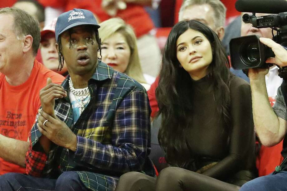 Rapper Travis Scott and reality TV star/makeup mogul Kylie Jenner. Photo: Ronald Martinez, Getty Images / 2018 Getty Images