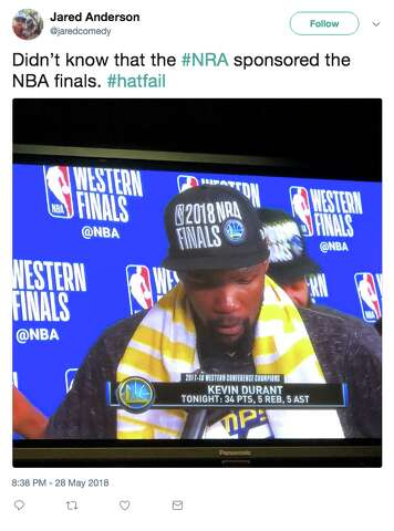 ca38fcee5a5033 <p>Basketball fans reacted to the 2018 NBA Finals hats on Twitter, saying