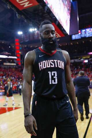 7ae8777a853 Houston Rockets guard James Harden (13) walks off the court after the  Rockets lose