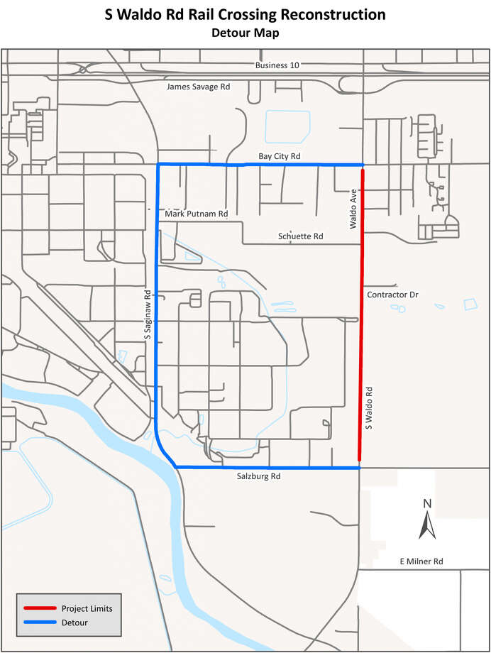 A detour route for Waldo Avenue. (Image provided)