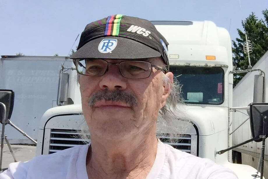 Lee Klass of Portland, Ore., has been a truck driver for more than 40 years. He took his first selfie for this article. Photo: Lee Klass / The Washington Post