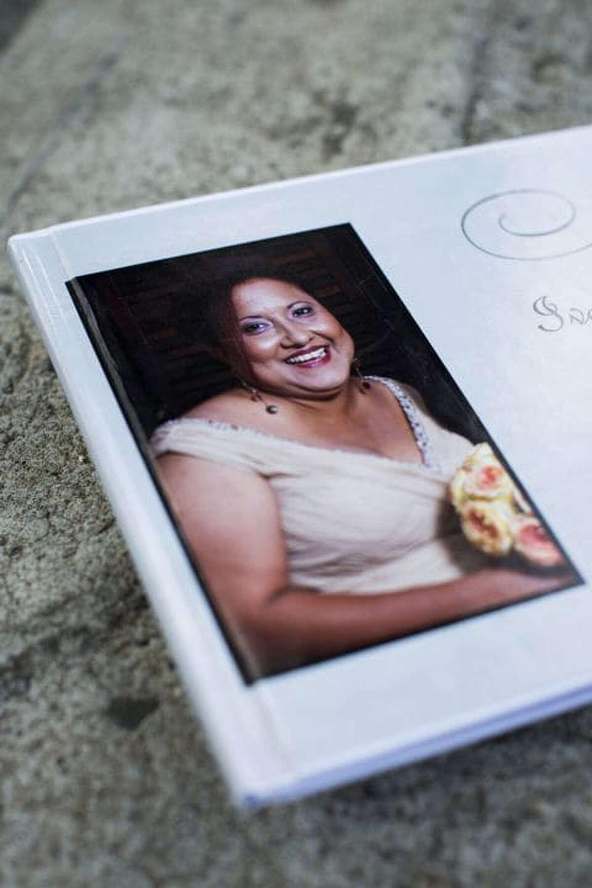 A memorial book for Ivette Leon.