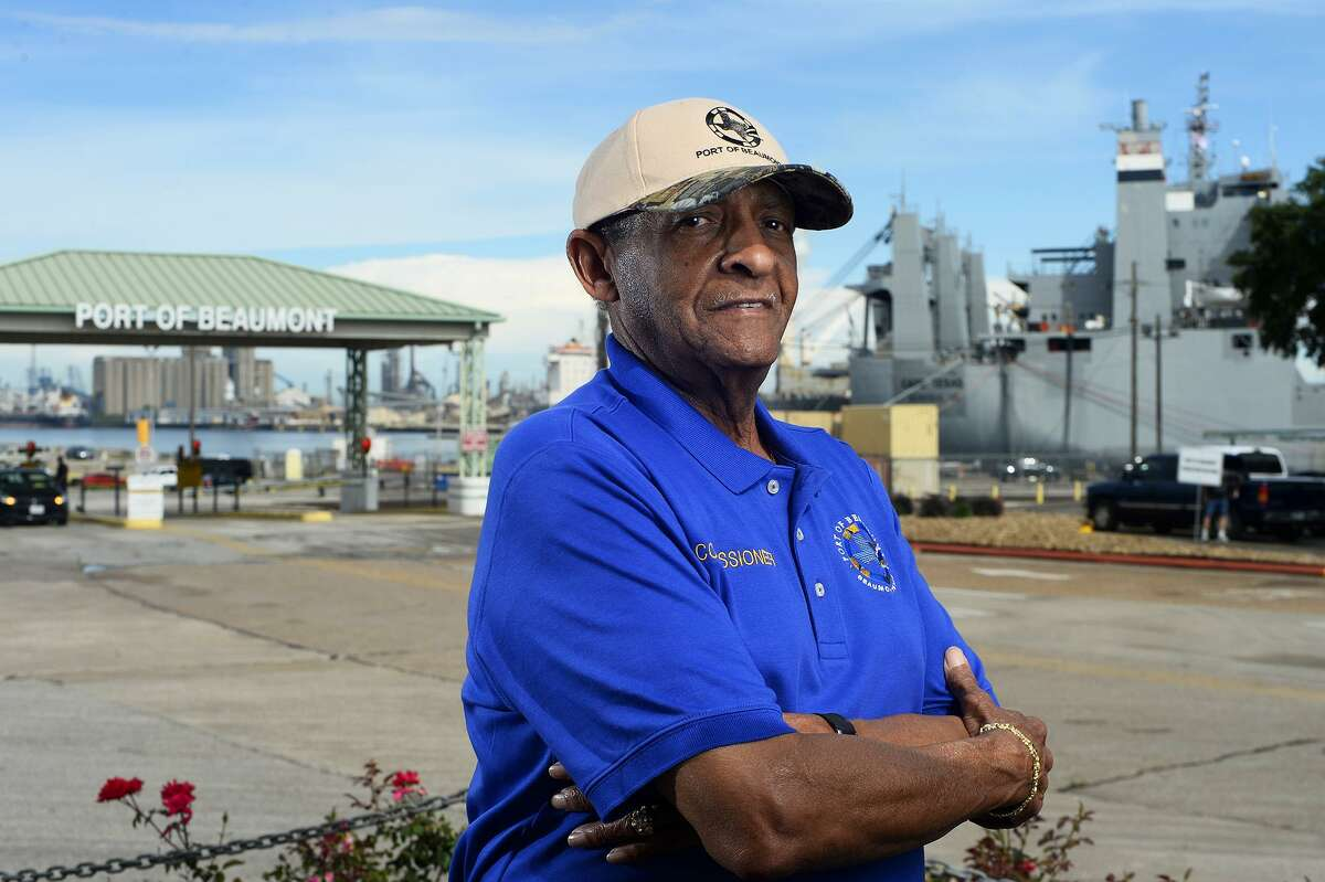 """Lee Smith, a commissioner with the Port of Beaumont, was appointed president of the board recently, taking over for C.A. """"Pete"""" Shelton. Smith is the first African-American president in the port's history. Photo taken Wednesday 5/23/18 Ryan Pelham/The Enterprise"""