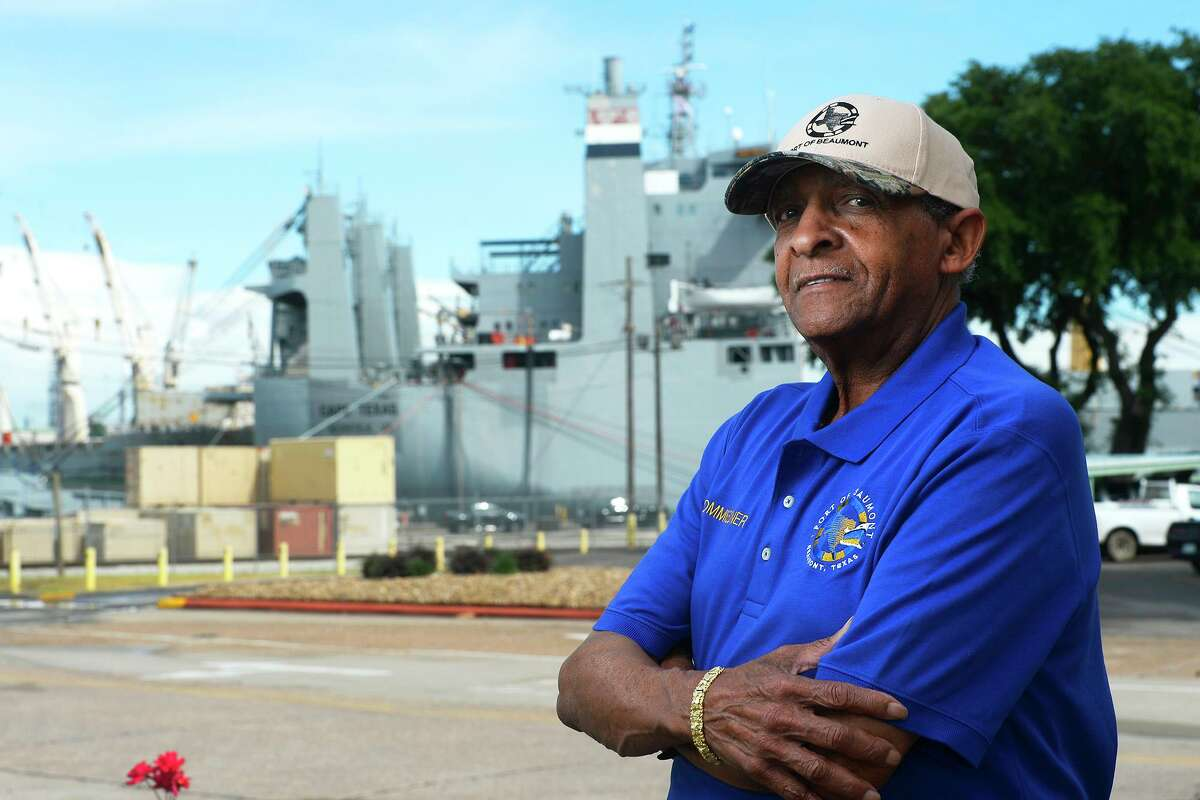 """Lee Smith, a commissioner with the Port of Beaumont, was appointed president of the board on Monday, taking over for C.A. """"Pete"""" Shelton. Smith is the first African-American president in the port's history. Photo taken Wednesday 5/23/18 Ryan Pelham/The Enterprise"""