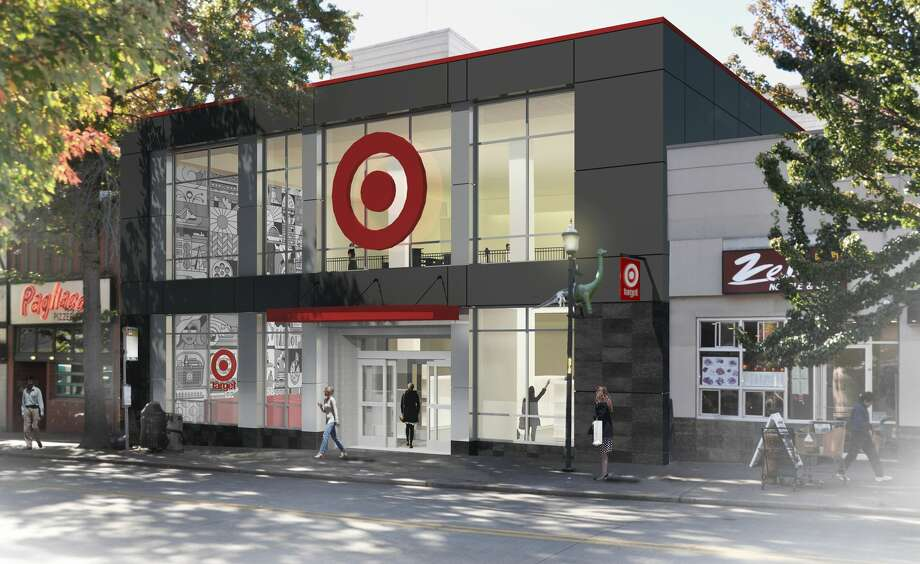 Target plans to open three new Seattle-area stores in the next two years in Ballard, University District and Bellevue. The U-District store, pictured in a rendering, will be located on The Ave at 4535 University Way Northeast. Photo: GregM, Target