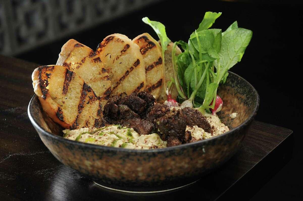 Hummus with zaatar at Poitin