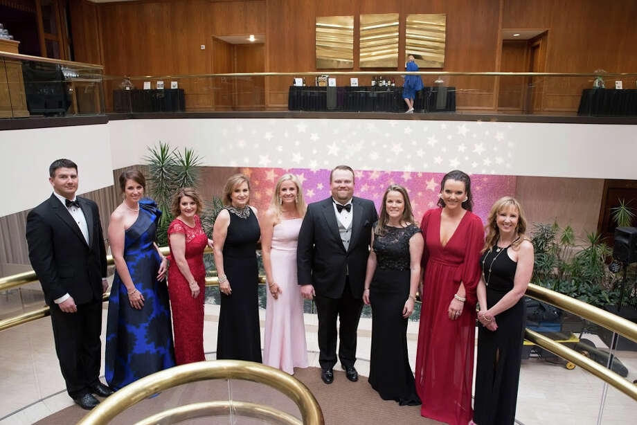 Crystal Ball: Austin Moffitt, from left, Tiffany Parsons, Crystal Meyers, Candyce Roybal, Laura Earl, Greg Mabee, Missy Klingensmith, Kate Williamson and JaLynn Hogan Photo: Courtesy Photo