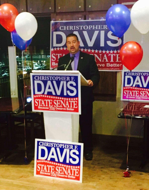 Cohoes Republican Chris Davis kicks off a second attempt to unseat Sen. Neil Breslin, D-Bethlehem. (Davis Campaign)
