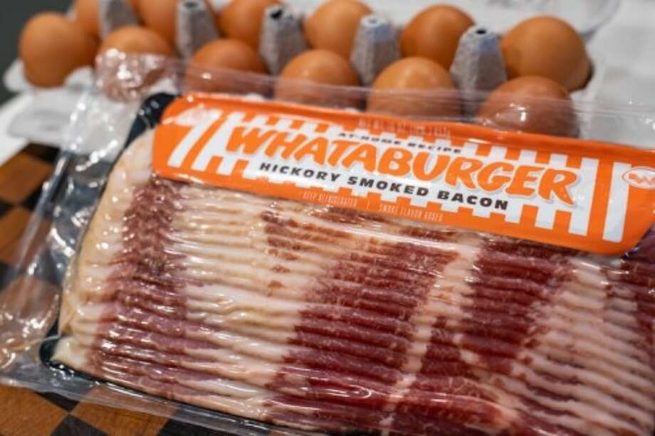 Whataburger's Hickory Smoked Bacon is available in one-pound servings and includes 16 to 18 slices per package.