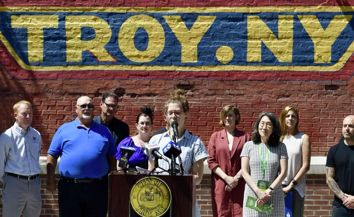 Troy officials announced the summer schedule of events on May 29, 2018, including The ValleyCats, The Great Race and food and music events. (Skip Dickstein/Times Union)