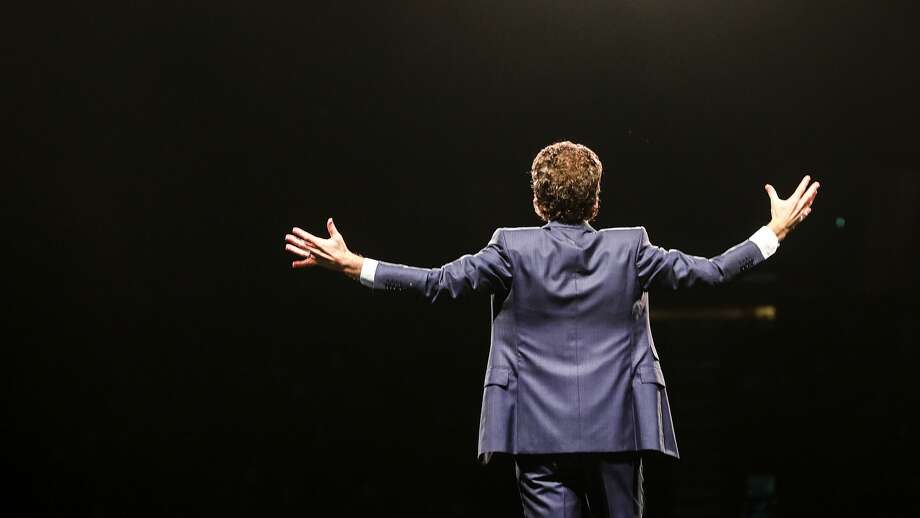 """Minister Joel Osteen holds """"A Night of Hope"""" event on  Saturday, Oct. 28, 2017, in Los Angeles. ( Elizabeth Conley / Houston Chronicle ) Photo: Elizabeth Conley/Houston Chronicle"""