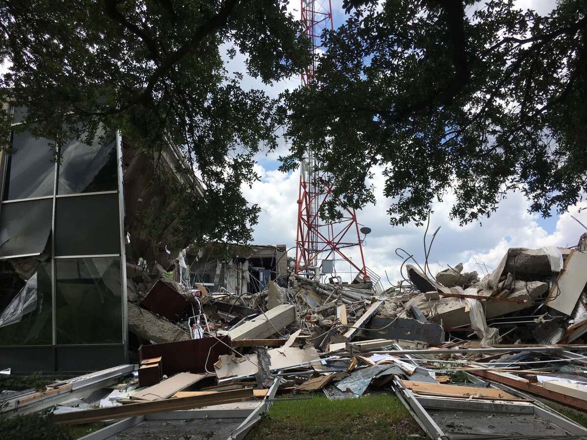 The former KHOU studio and headquarters at 1945 Allen Parkway was demolished in 2018 after succoming to feet of floodwater from Buffalo Bayou during Hurricane Harvey.