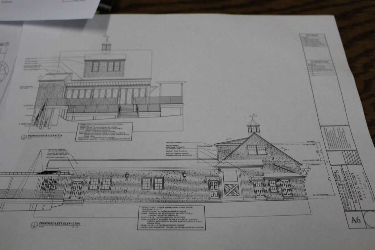 Architecture layouts to convert Village Marina and neighboring properties into Dockside Brewery.