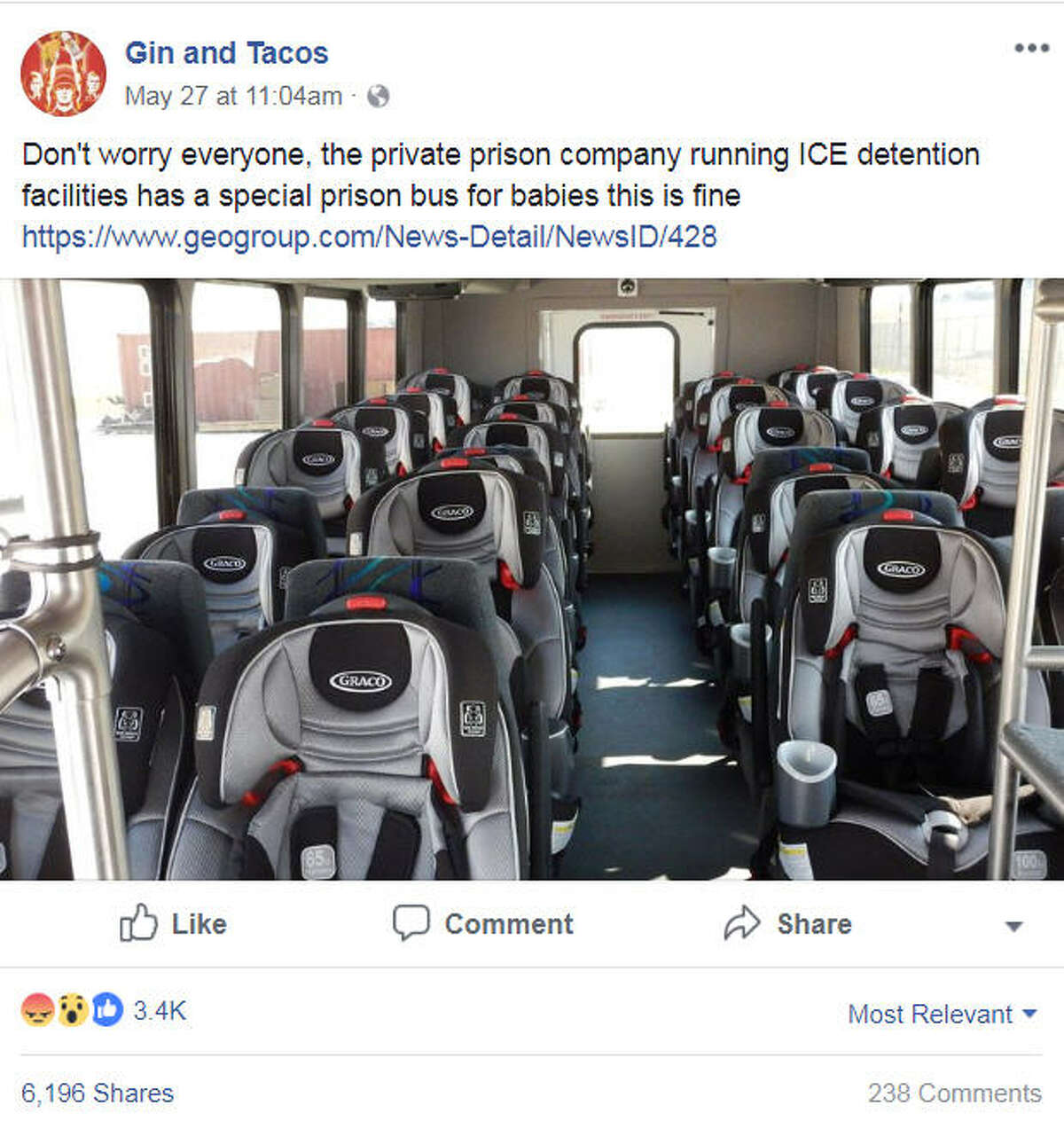 A photo of a vehicle outfitted for children at the Karnes County Residential Center ran by the U.S. Immigration and Customs Enforcement agency has sparked online fury on May 27, 2018.Image source: FacebookScroll ahead to see which cities reportedly had the most undocumented immigrants in America in 2017.