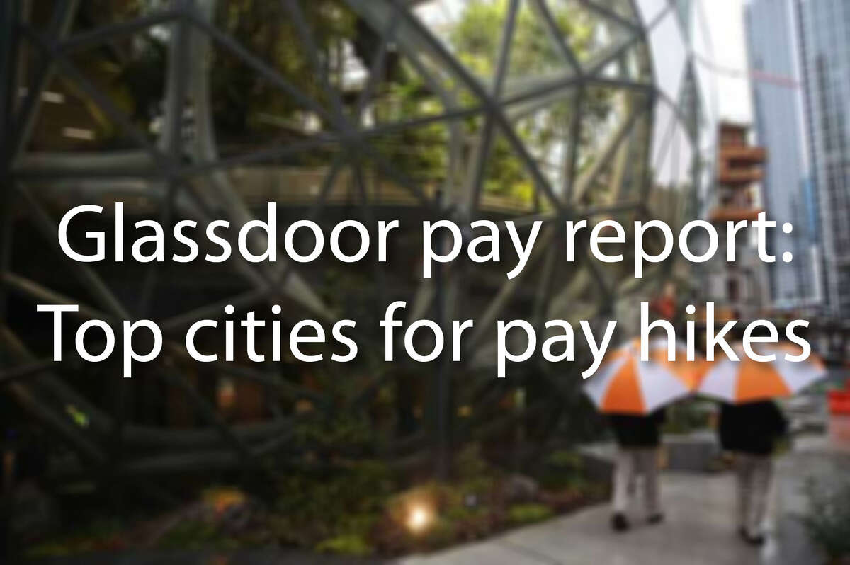 Keep clicking to see the U.S. cities with the highest pay increases in May 2018.