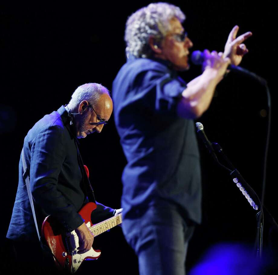 Pete Townshend (left) and Roger Daltrey of The Who perform during a concert at Oracle Arena in Oakland, California, on Thursday, May 19, 2016. Photo: Connor Radnovich /The Chronicle / **MANDATORY CREDIT FOR PHOTOG AND SF CHRONICLE/NO SALES/MAGS OUT/TV**