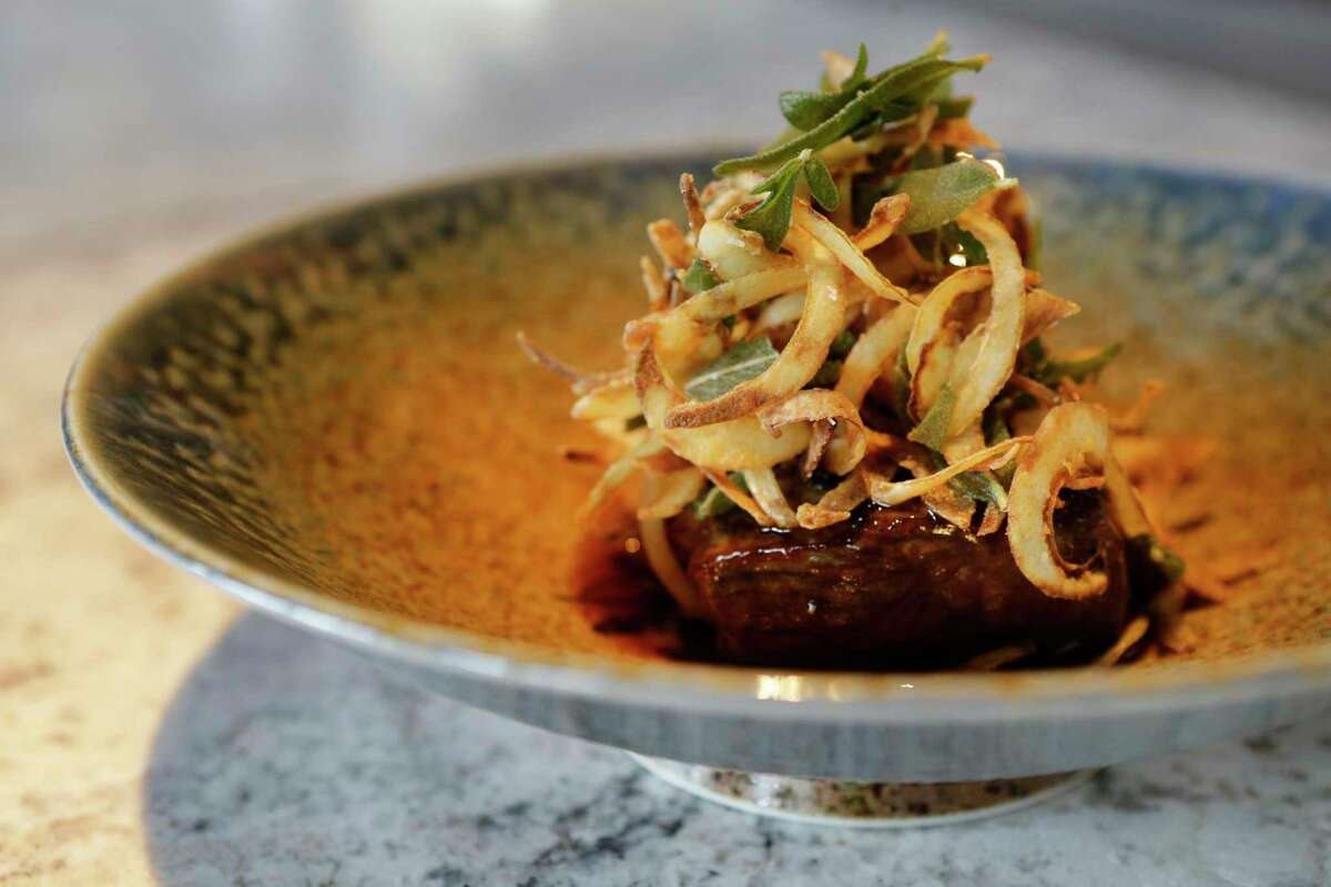 A boneless prime ribeye with yuzu truffle butter at Nobu Houston, 5115 Westheimer at the Galleria. Opening June 1.