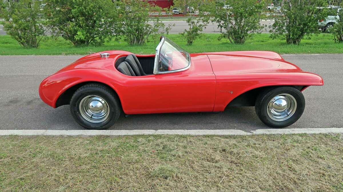 A 1956 Bangert Manta Ray, a fiberglass-bodied kit car, one of only four that still exist, according to the Norwalk Maritime Aquarium, which is hosting a car show on June. 16.