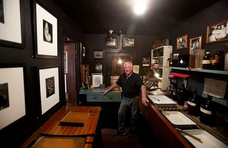 Kim Weston photographed in Edward Weston's darkroom in his home in Carmel, Calif. on Tuesday, May 22, 2018. Famed photographer Edward Weston was Kim Weston's grandfather and he has preserved his darkroom. Kim Weston is a photographer himself, primarily of nude studies. Carmel has played an important role in the history of photography.