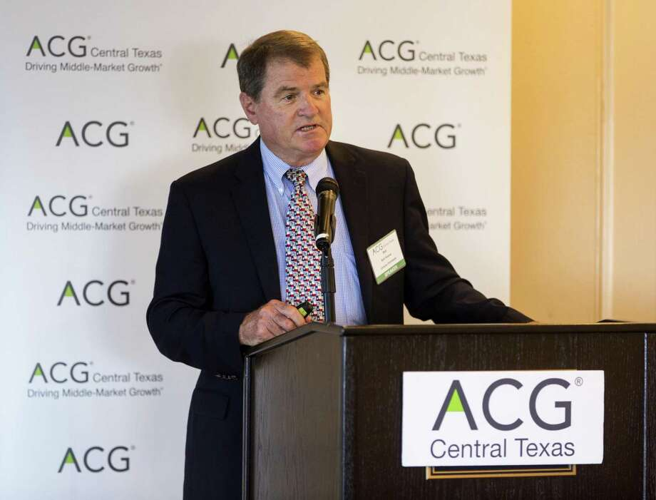Bob Watson, Abraxas Petroleum Corp. chairman and CEO, says pipeline bottlenecks in the Permian Basin, where Abraxas has the most acreage, are hurting prices for producers. He spoke Tuesday at the Plaza Club. Photo: William Luther /San Antonio Express-News / © 2018 San Antonio Express-News