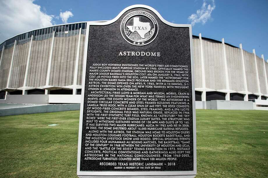 HOUSTON HISTORY: Houston's best historical markers  A Texas State Historical Marker, honoring the Astrodome, is dedicated on Tuesday, May 29, 2018, in Houston.  See more of Houston's historical markers... Photo: Brett Coomer, Houston Chronicle / © 2018 Houston Chronicle