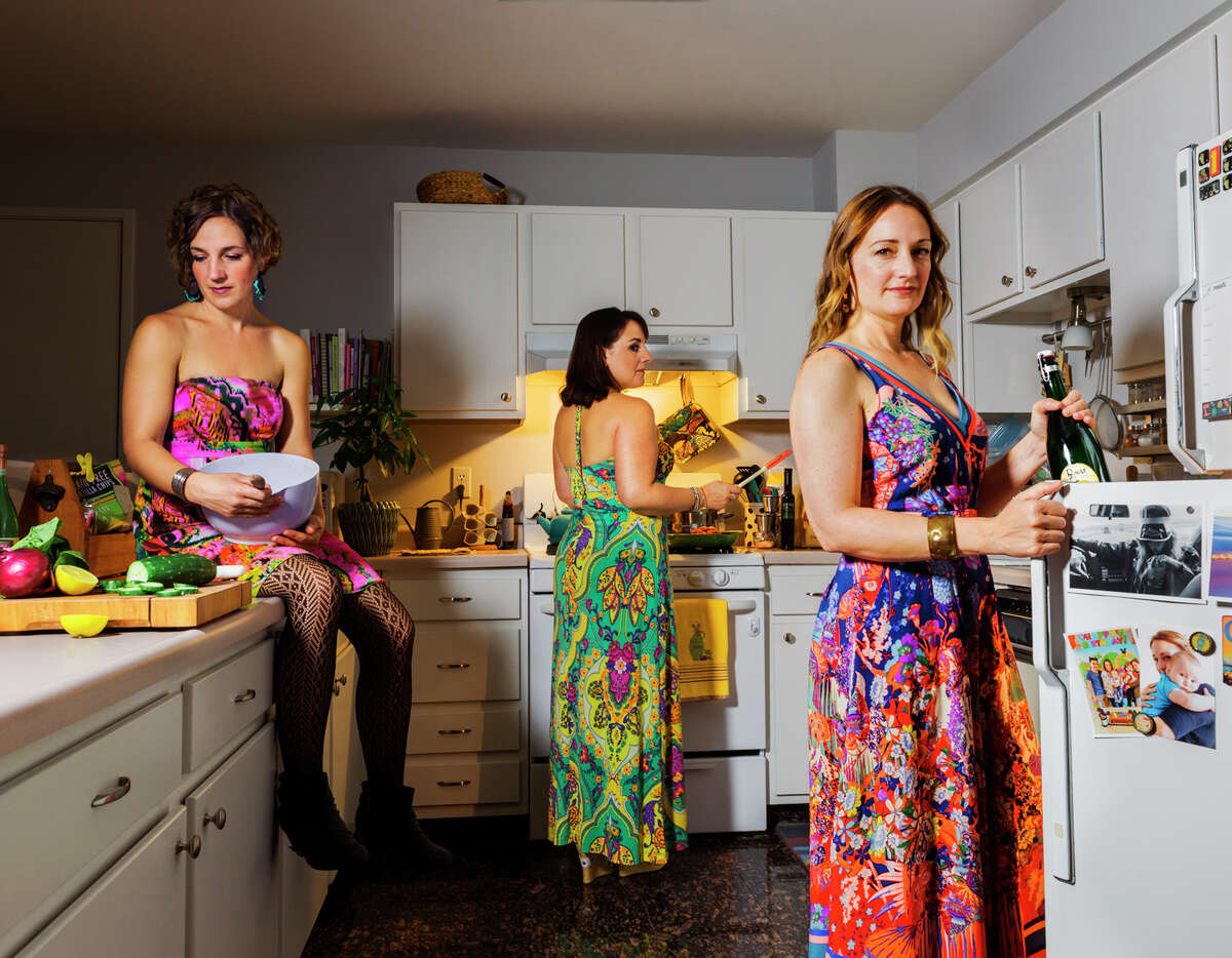 """Niki, Rita, and Lucia in 2017 """"We're all located in the Bay Area but at different ends, San Francisco, Berkeley and San Jose, so it's very different from the days of living together at our parents' house in Redwood City (2000 photo) and more difficult to get together these days with everyone's schedules. I feel like we're always catching up and we're never done, whether it's the latest family news, what's going on at work, sharing recommendations for a new favorite aluminum-free deodorant or Netflix show. I was used to living with my sisters and talking everyday, and now there's so much we squeeze into our scheduled time together. We are beyond lucky to have our parents. They raised us to be close, to look after each other, to be honest with each other, and I think that gave us a really strong foundation for our relationships with each other. We grew up in an environment where the truth--whether it was difficult, uncomfortable, or ugly--was valued, along with education, community and family, above all else."""" - Niki *** """"We are close... very close. We are honest with each and know when to step in and help each other out. Our closeness has continued to evolve over many years. We have been alongside each other's journeys in life and have been there to either toast our accomplishments or provide a shoulder to cry on. My sisters are a huge part of my children's lives, each a godmother to my boys. They were both maids of honor at my wedding. It is a gift to have them in my life. I look forward to many more memories we will create together. When we are together, we are usually eating or cooking, and when we are not doing that, you can usually find us at a concert, on the beach or in a comfy space just catching up. Redwood City in the 80's and 90's was entirely different..."""