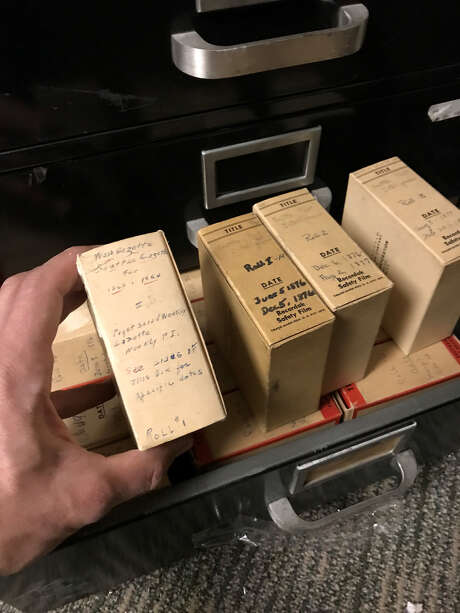The first 1863 editions of the Seattle Post-Intelligencer on microfilm Photo: Brandon M. Mercer, SeattlePI
