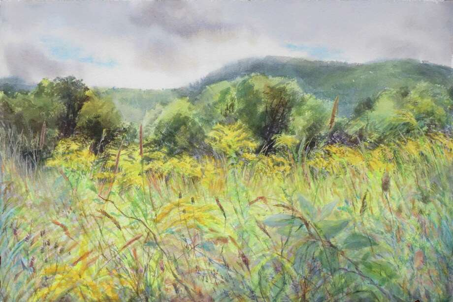 "Artist Ellen Moon will discuss her work at the Hunt Library in Falls Village during a special program on Sunday, June 10. Pictured is her painting, ""Goldenrod."" Photo: Contributed Photo"