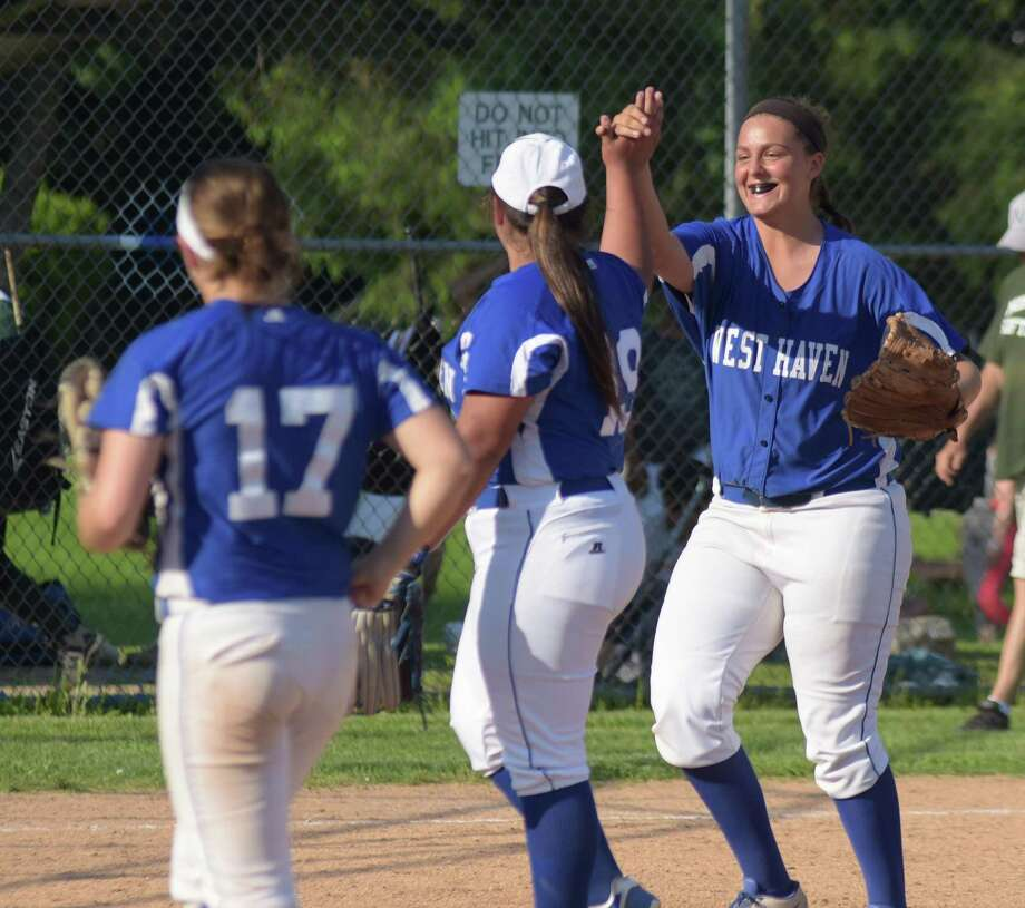 The Norwalk Bears and West Haven Blue Devils played on Tuesday in a CIAC Class LL first-round softball state tournament game at Red Barry Field in Norwalk. West Haven won 4-1. Photo: John Nash/Hearst Connecticut Media