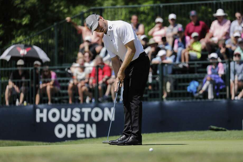 Bronson Burgoon putts on the ninth green during the second round of the Houston Open at the Golf Club of Houston on March 30, 2018. Photo: Tim Warner, Freelance / For The Chronicle / Houston Chronicle