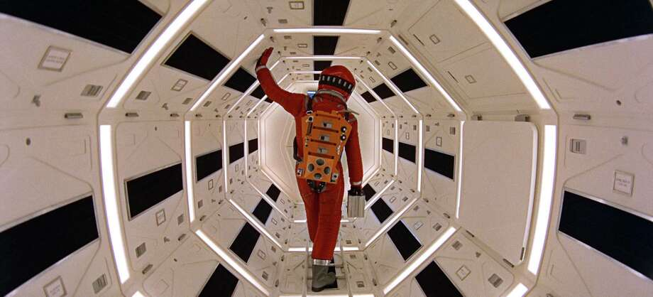 "This image released by Warner Bros. Pictures shows Keir Dullea in a scene from the 1968 film, ""2001: A Space Odyssey."" Filmmaker Christopher Nolan, a passionate booster of the big screen and champion of celluloid, has returned Stanley Kubricks film to its original analog presentation that will put the sci-fi masterpiece back into theaters to commemorate its 50th anniversary. Photo: Associated Press / Warner Bros. Pictures"