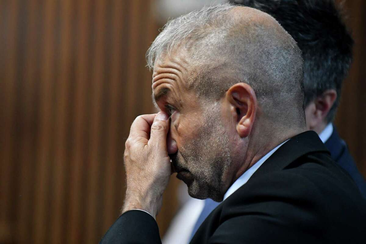 SUNY Polytechnic Institute Founding President and CEO Alain Kaloyeros awaits his arraignment on state charges while sitting in a courtroom at Albany City Courthouse on Friday morning, Sept. 23, 2016, in Albany, N.Y. (Will Waldron/Times Union)
