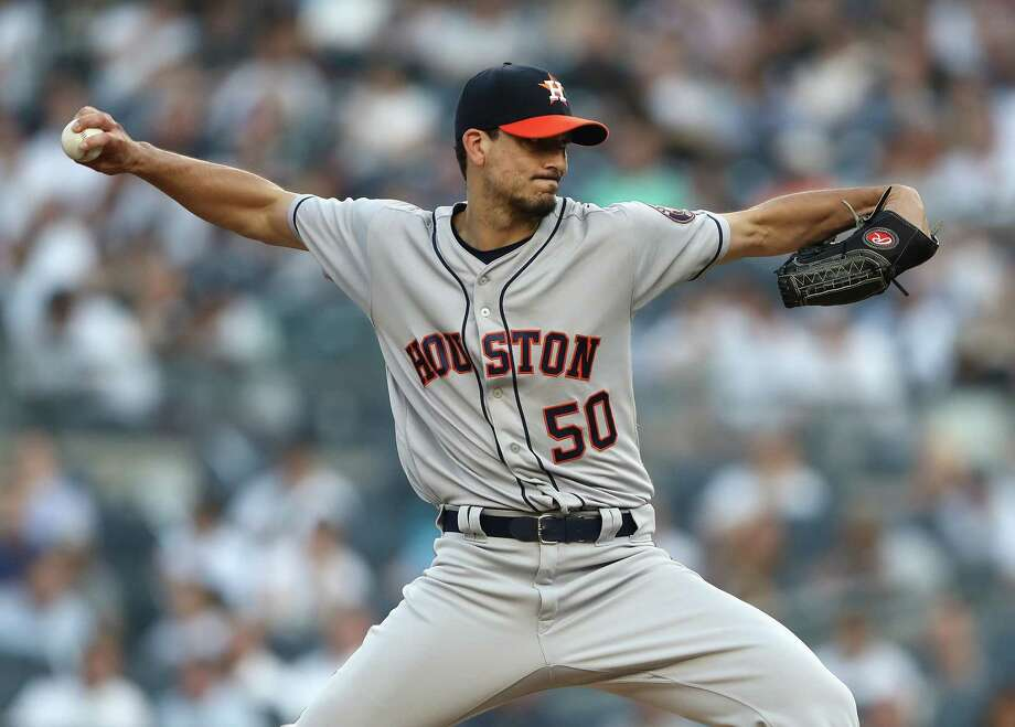 Astros starter Charlie Morton has had a rough go of it in his past couple starts. Photo: Al Bello, Getty Images / 2018 Getty Images