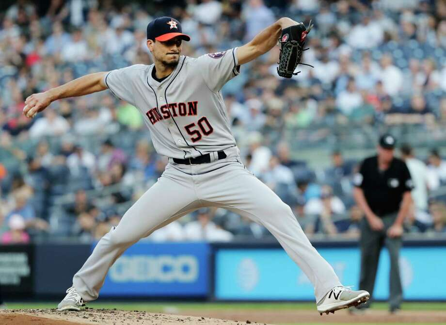 Charlie Morton struck out 10 in getting a no-decision Tuesday as the Astros bullpen squandered a ninth-inning lead for the second time in three games. Photo: Frank Franklin II, Associated Press / Copyright 2018 The Associated Press. All rights reserved.