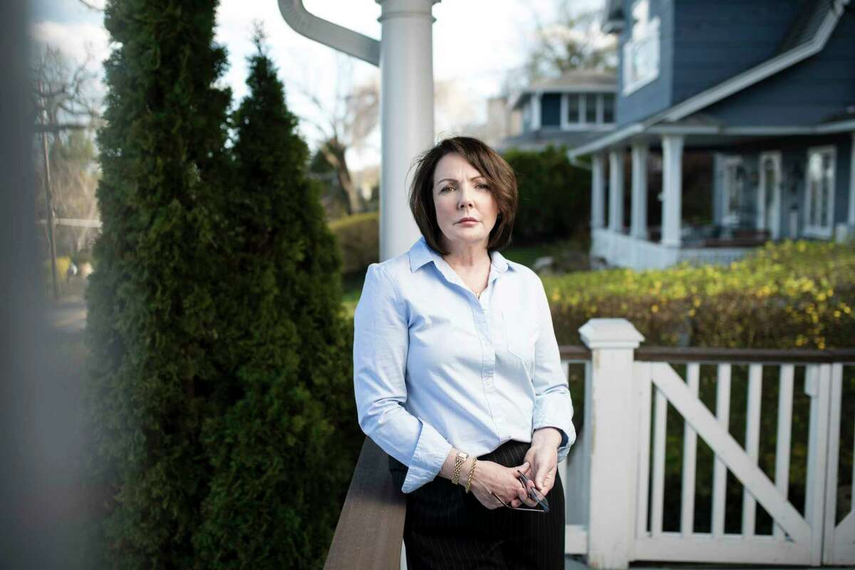 """Patricia Gunning, a state employee who was verbally abused when she confronted the ?""""frat-house culture?"""" at her workplace, at home in Orangetown, N.Y., April 26, 2018. Bringing a sex harassment complaint in New York state government can be a confusing process, with no uniformity on which agency handles the matter. (Karsten Moran/The New York Times)"""