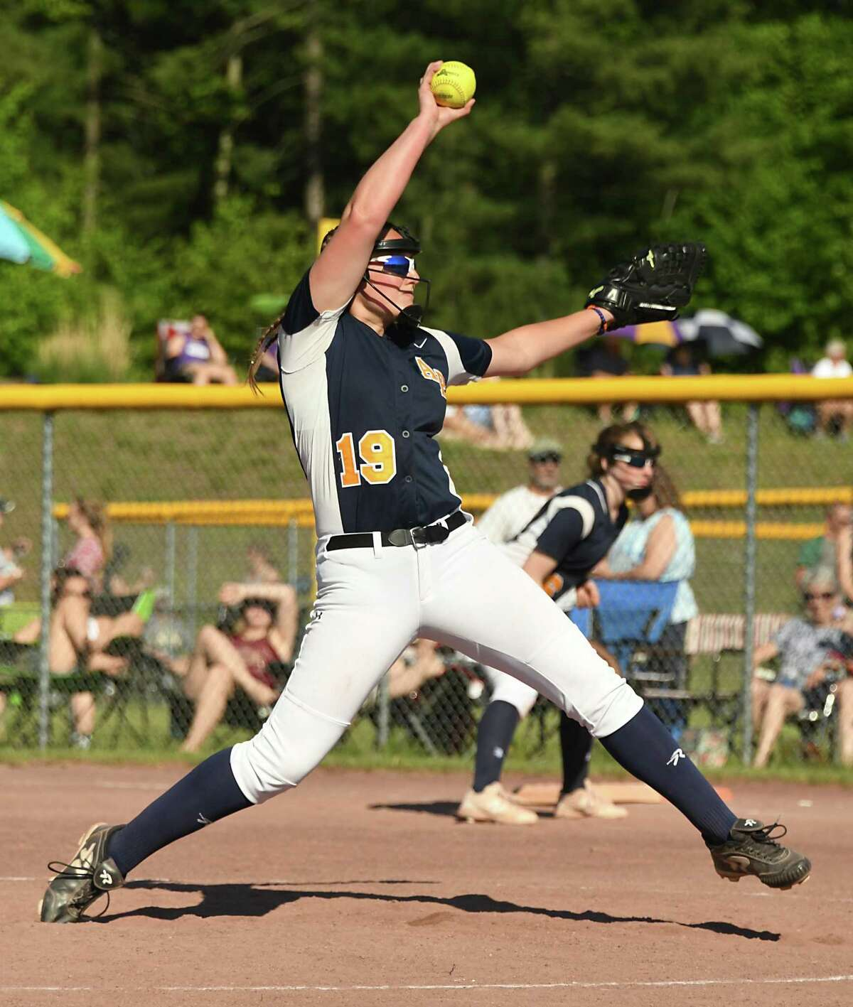 Averill Park pitcher Jadyn Lee throws the ball during the Class A softball final against South Glens Falls at the Luther Forest Complex on Wednesday, May 29, 2018 in Malta N.Y. (Lori Van Buren/Times Union)