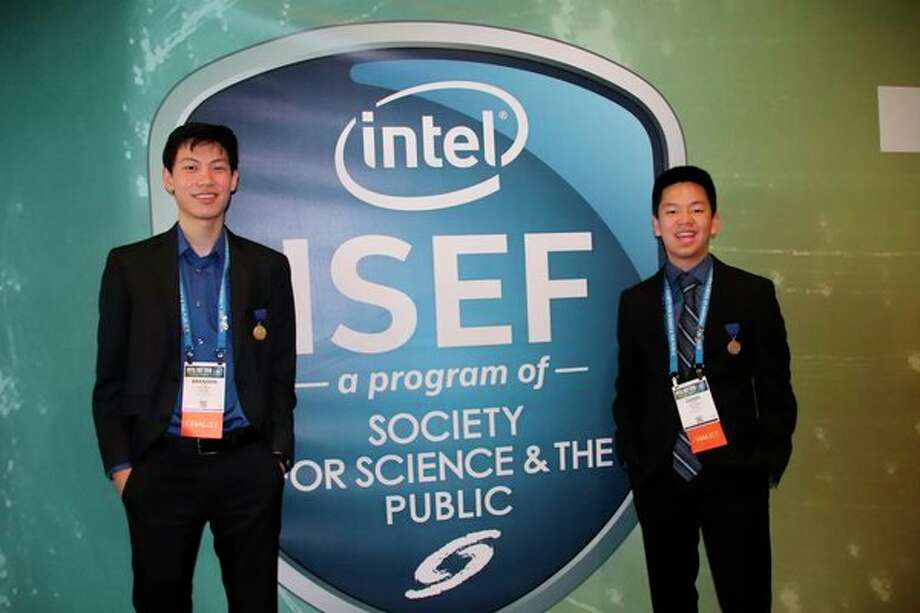 Daniel Zhang and Brandon Zhu, seniors at H.H. Dow High School in Midland, have won more recognition for their project, Release of Active Pharmaceuticals Using Hyperbranched Polyesters. (Photo provided)