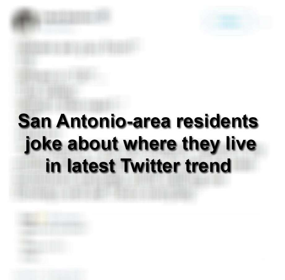 Keep scrolling to see San Antonio-area residents get in on the latest Twitter trend. Photo: Twitter Screengrabs