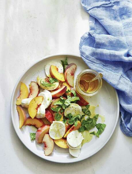 "Peach Caprese from ""Magnolia Table"" by Joanna Gaines. Photo: Amy Neunsinger /HarperCollins"